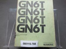 General Numeric Gn6T Operator Programmer Manual Sinumerik