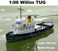 Willims tug 308mm Scale 1:96 Remote control simulation RC model tug wooking boat