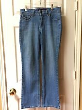 Women's Jeans Gloria Vanderbilt Size 6  Distressed Denim Cotton Poly Spandex EUC