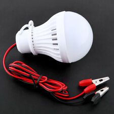 Portable 12V 5W LED Bulbs Lamp For Camping Solar Hunting Emergency W/Clip Light-