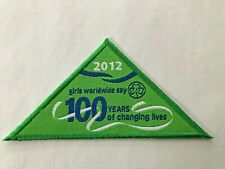 2012 Centenary Girl Guides Australia Badge: 100 Years of Changing Lives - Green