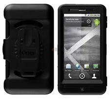 New in Box Black Otterbox Defender Case with Holster Clip For Motorola Droid X2