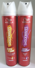 Wella Shockwaves Sleek n Shine & Extra Strong Hold 250ml