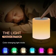 Touch Control Bedside Lamp Multi Changing Color Dimmable Home Table Chill Light