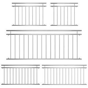 Balkongeländer Fenster Geländer Edelstahl Französischer Balkon Gitter Silber V2A