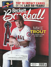 BASEBALL CARD PRICE GUIDE BECKETT NOVEMBER 2019 MIKE TROUT COVER