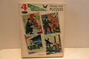 Whitman 1966 Greenway Prod. The Green Hornet 4 Frame Tray Puzzles No.4588:1.00