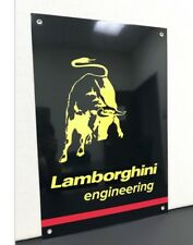 Rare Lamborghini Engineering Racing Vintage Reproduction Garage Sign