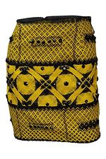 *ARMANDO MAFUD* YELLOW COTTON SILK BLEND MINI TUBE SKIRT (S)