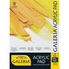 Winsor & Newton Galeria Acrylic Paper Pad 300g A4. For Artists Acrylic Painting