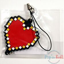 The Legend of Zelda Heart Rubber Strap Keychain Famicom Collection Nintendo NEW