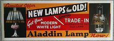 HUGE 3 foot ALADDIN LAMP ADVERTISING POSTER FAITHFUL REPRO of 1937 ORIGINAL