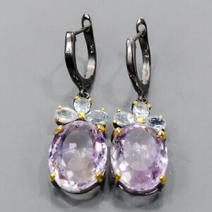 20ct+ One of a kind SET Ametrine Earrings Silver 925 Sterling   /E57472
