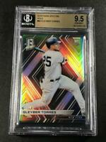 GLEYBER TORRES 2018 PANINI SPECTRA #89 HOLO SILVER REFRACTOR ROOKIE RC BGS 9.5