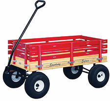 AMISH HEAVY DUTY WAGON 40x20 Bed Solid Quality Cart * Red Green Pink Blue * USA