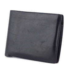 HERMES two-fold wallet leather Auth used T9943