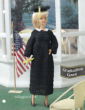 """GRADUATION CAP & GOWN""~Crochet PATTERN~PATTERN ONLY fits BARBIE FASHION DOLL"