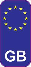 GB For Registration Plate Euro-flag Car Van Truck Sticker 49 x 107 mm Set of 2