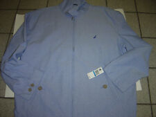 NEW MENS NAUTICA LIGHT BLUE ZIP GOLF JACKET SIZE M  $98