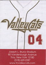 2004 TRI-CITY VALLEY CATS MINOR LEAGUE BASEBALL POCKET SCHEDULE
