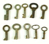Vintage Antique Skeleton Barrel Keys Assorted Lot of 10 Different Keys  (BK8)