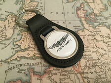 ASTON MARTIN Quality Black Real Leather Keyring