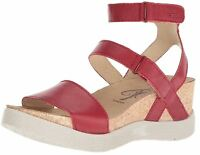 Fly London Wink196FLY Lipstick Red Mousse Soft Leather Strappy Gladiator Sandals