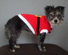 Handmade santa Claus dog jumper