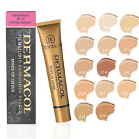 Dermacool Waterproof High Covering Conceal Make up Foundation Film Studio Cover
