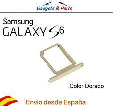 Bandeja porta tarjeta Sim Samsung Galaxy S6 G920f color dorado