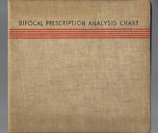 BIFOCAL PRESCRIPTION ANALYSIS CHARTS 1937 Bausch & Lomb Optical