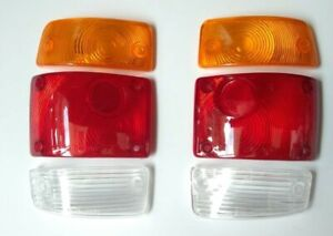 FITS Nissan Datsun SUNNY B110 B120 1200 Pickup NEW REAR TAIL LIGHTS LENS LH+RH