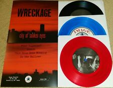 "WRECKAGE - CITY OF SUNKEN EYES 7"" LOT   SXE NYHC BURIED ALIVE SNAPCASE"
