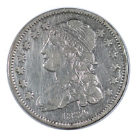 1834 Capped Bust Quarter Very Fine Condition