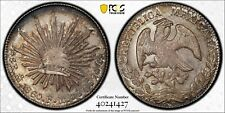 MEXICO REPUBLIC MEXICO CITY MINT 1860-MoFH  8 REALES COIN, CERTIFIED PCGS MS62