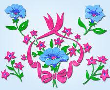 1950s Charming Uncut Vogart Textilprint Flower and Wreaths Hot Iron Transfer 541