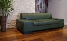 Echtleder Sofa Couch 100% Echtes Leder mit Ziernaht Rindsleder Große Farbauswahl
