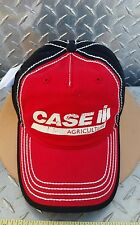 Case IH Distressed Logo Red & Black Chino Twill white contrast stitching Cap hat