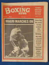 Boxing News Magazine - 27/2/81 - Charlie Magri & Enrique Rodriguez Cal Cover