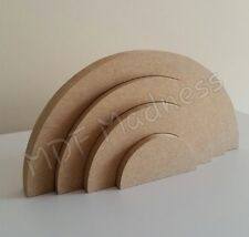 MDF CRAFT SHAPE. WOODEN 3D RAINBOW. 18MM FREE STANDING 20CM LONG