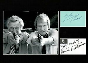 JOHN THAW AND DENIS WATERMAN THE SWEENEY  SIGNED AUTOGRAPH DISPLAY UACC