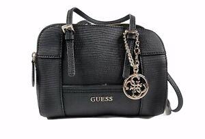 Black Womens Huntley Original Guess New Handbag Cali Black Satchel Bag Small