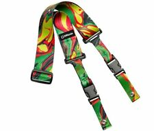 DiMarzio ClipLock Steve Vai Guitar Strap Green Universe DD2241