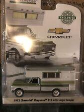 Greenlight  1972 Chevrolet  C10 Cheyenne Truck  w/ Camper  green & White