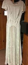 $8750 J. Mendel Paris Beaded Short Sleeve Pleat Gown Light Green Size 10