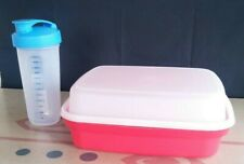 Tupperware Large Season Serve Meat Marinator And Quick Shake Container -- New