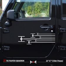 SET of 2x TIE FIGHTERS SQUADRON Star Wars Side Stripes Car Vinyl Sticker Decal