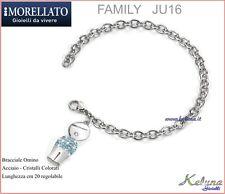 Bracciale Gent Morellato Collezione Family JU16 - 65 - Acciaio - Cristallii
