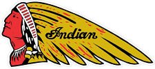 """#k635 6"""" Indian Motorcycle Script Logo Decal Sticker Laminated Gold Chief"""