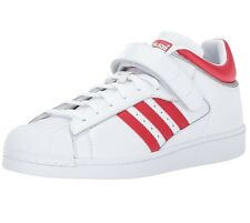 ADIDAS ORIGINALS PRO SHELL WHITE/SCARLET RED/SILVER MEN'S 8.5 STRAP BY4384